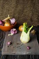 ail, fenouil et oignon photo