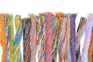 câbles de télécommunication multicolores photo