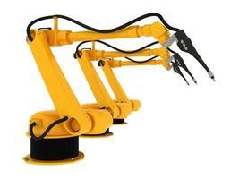 bras robotique industriel isolé sur blanc photo