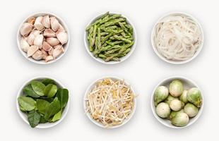composite avec des variétés d'ingrédients photo