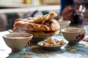 pain pita de crimée et thé chaud.