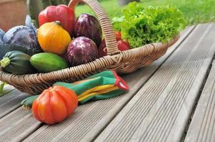 panier de légumes photo