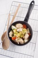 ragoût de poulet irlandais dans une casserole photo