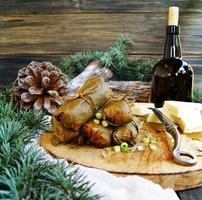Dolma à la table de Noël et du nouvel an photo