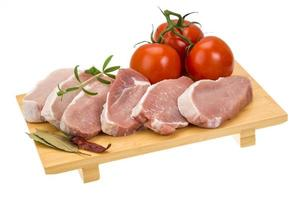 steak de porc cru photo