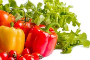 tomate et poivron photo