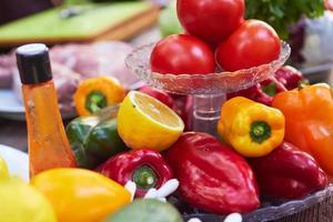 légumes sur une assiette photo