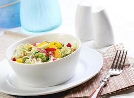 salade de printemps - gros plan photo