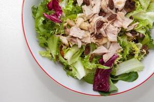 salade de poulet aux tomates et raisins secs photo
