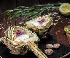 artichaut et asperges