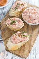 salade de saumon fraîche