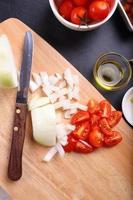 ingrédient de soupe aux tomates photo