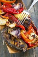 de légumes sur le grill agrandi. photo