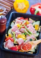 viande aux légumes