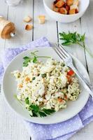risotto traditionnel aux champignons photo