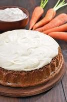 tarte aux carottes avec glaçage photo