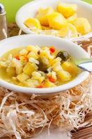 soupe aux légumes.