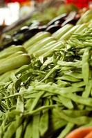 marché aux légumes haricot romano photo