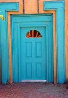 porte turquoise photo