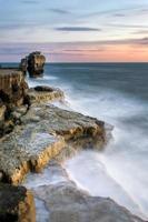 coucher de soleil à la chaire rock photo