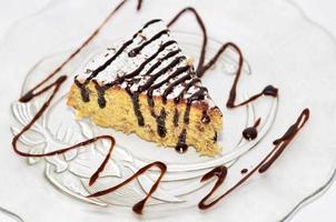 morceau de gâteau de maïs photo