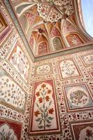 fort d'ambre, jaipur, rajasthan, inde; fresque photo