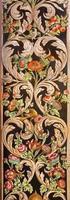 grenade - le détail de la fresque florale décorative