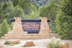 entrée dans le parc national de mesa verde, usa photo