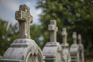 marqueurs de tombe, cimetière d'Oakland