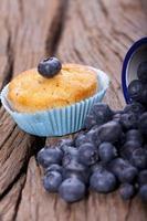 muffin aux bleuets frais photo