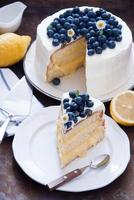 gâteau aux bleuets et au citron