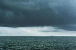 tempête sur la mer photo