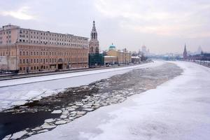 rivière d'hiver de Moscou photo