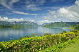 barrage de ratchaprapha surat province de thani, thaïlande photo