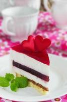 morceau de gâteau de fête photo