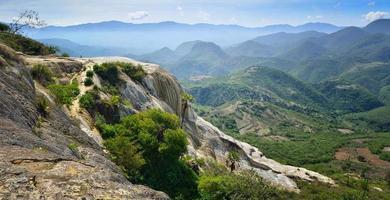 vue panoramique sur les montagnes depuis les sources chaudes hierve el agua photo