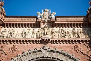 arc de triomphe à barcelone photo