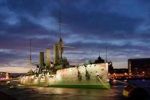 croiseur aurora à saint-petersburg photo