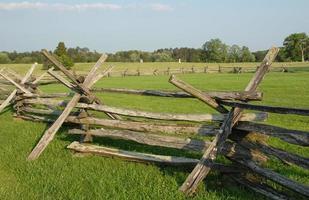 clôture ferroviaire sur le champ de bataille de manassas photo