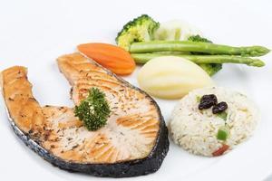 steak de saumon grillé