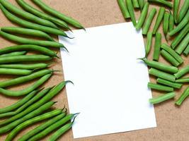 haricots verts et haricots verts tranchés photo