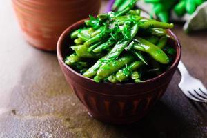 Salade d'haricot vert photo