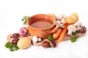 soupe et ingrédient