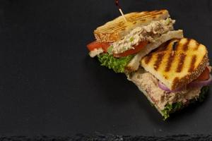 sandwich au panini au thon photo