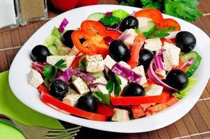 assiette avec salade