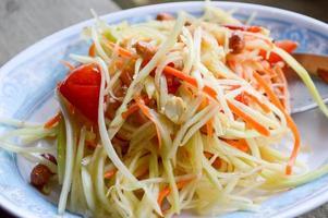 salade de papaye épicée photo