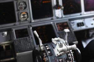 panneau de commande d'avion photo