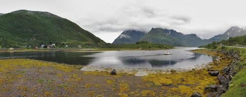 paysage nuageux loffoten photo