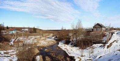 paysage rural d'hiver photo