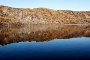 paysage de lac automne